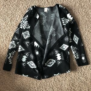 Faded Glory Open Front Aztec Cardigan Sweater